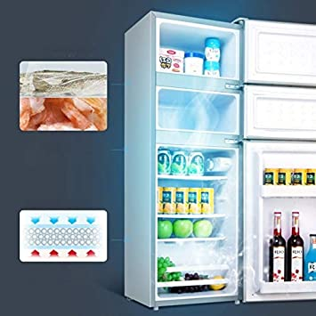Small Refrigerator for Household Use Color : 140L GUAPIHUO Yyijunbxi Mini Fridge Three-Door Refrigerator