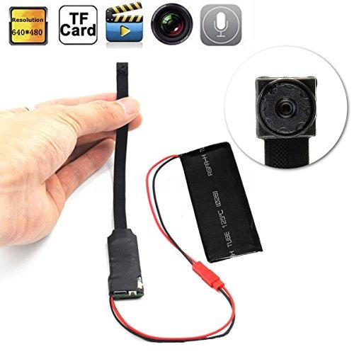 XuBa - Cámara espía inalámbrica, WiFi, IP Oculta, cámara de vídeo Digital, Bricolaje, Mini Micro DVR DV, Color Negro