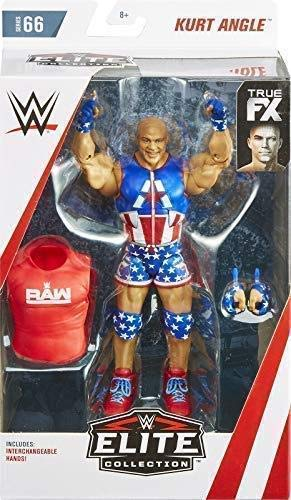 WWE KURT ANGLE RAW RETRO APP MATTEL SERIES 7 WRESTLING ACTION FIGURE BASIC NXT