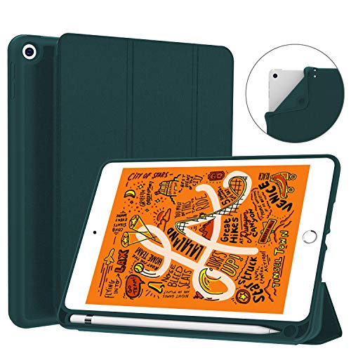 Soke iPad Mini 5 Case 2019 with Pencil Holder,Premium Smart Case with Strong Protection, Ultra Slim Soft TPU Back Cover with Auto Sleep/Wake Function for New Apple iPad Mini 5th Gen(Teal)
