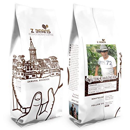 Z Beans Coffee - Ecuadorian Coffee - Specialty Whole Bean Coffee (12oz. Bag) - Single Origin - High Altitude Grown - 100% Processed Organic - 100% Farmer Validated (Dark Roast)
