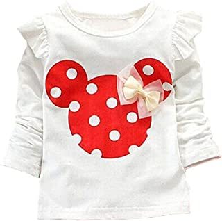 MH-Lucky Baby Girl Clothes Toddler Infant Long Sleeved T-Shirt Tops Tee Clothes