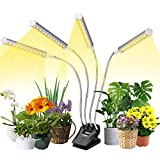 Plant Grow Light, VOGEK Grow Lights with LCD Display Timer, LED Grow Lamps Full Spectrum for Indoor Plants with Table Clip, 4 Switch Modes, 10 Brightness Setting