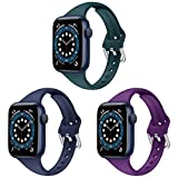 Armband Apple Watch, Kompatibel für Apple Watch Armband 38mm 40mm 42mm 44mm, Schlank Dünnes...