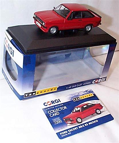 corgi vanguards Ford Escort MK2 RS Mexico Signal Red car 1:43 scale diecast model
