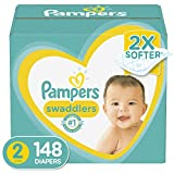 Diapers Size 2, 148 Count - Pampers Swaddlers Disposable Baby Diapers, Enormous Pack