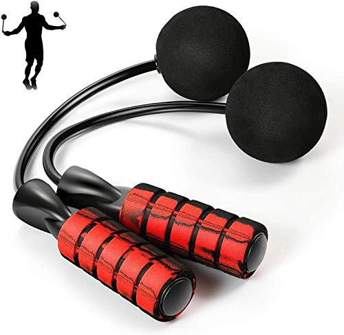 Duyifan Cordless Jump Rope for Fitness, Cordless Skipping Rope Weighted with Memory Foam Handles for Men, Women And Kids
