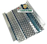 A-M Aluminum Gutter Guard Sample Pack - Includes Both 5' and 6' Width Samples (7' in Length, Mill Finish)