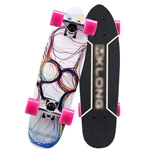 Skateboarden Cruiser Anfänger, Kind, Erwachsener, Teenager, Männer Und Frauen, Double Rocker Maple Scooter, Double Rocker, Big Fish Board, Allgemeines Professionelles Allrad
