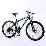 WEHOLY Bicicleta Bicicleta de montaña Suspensión Doble Bicicleta para Hombre 21 Velocidades 29 Pulgadas Marco de Aluminio Frenos de Disco para Bicicleta, Azul