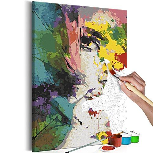 murando Pintura por Números Cuadros de Colorear por Números Kit para Pintar en Lienzo con Marco DIY Bricolaje Adultos Niños Decoracion de Pared Regalos - Cara 60x90 cm - DIY - n-A-0250-d-a