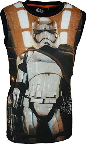 Star Wars - Camiseta sin mangas para niño, color negro Negro<br />  104 cm/4 Años