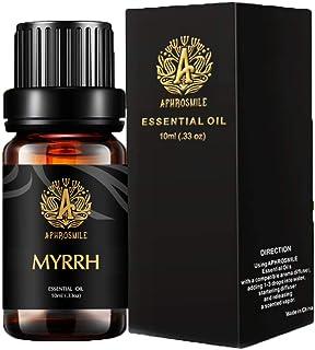 Aphrosmile Myrrh Essential Oil - 100% Pure Myrrh Oil, Organic Therapeutic-Grade Aromatherapy Essential Oil 10mL/0.33oz