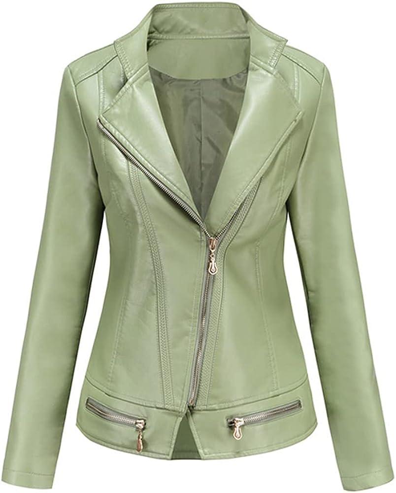 Autumn Winter Women Faux Leather Jackets Plus Size Zipper Casual