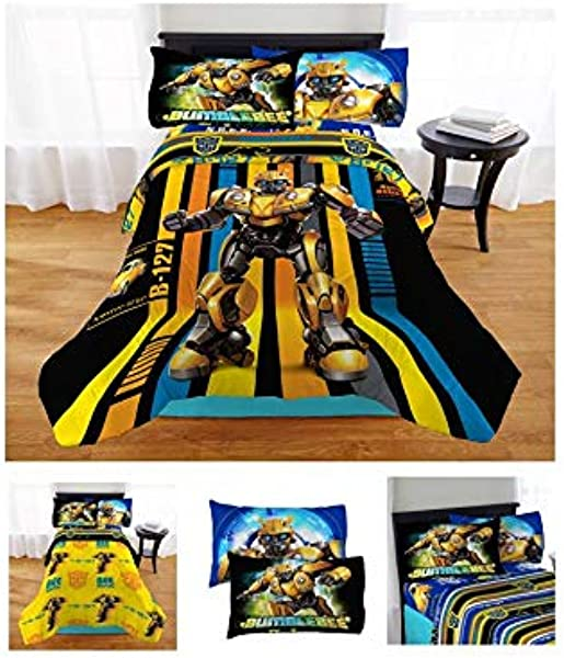 Franco Manufacturing 4pc Transformers Bee On His Own Bed In A Bag