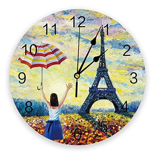 Tbqevc Reloj de Pared hogar Sala de Estar Bar café decorador Reloj de Pared 12 Pulgadas