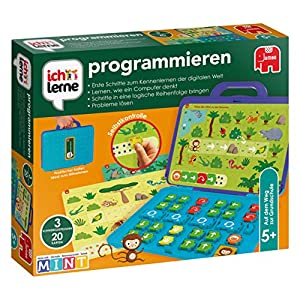 Lerne anhand dieses Lernkoffers die Grundlagen der Computersprache auf spielerische Weise. Dieser Lernkoffer ist für Kinder ab 5 Jahren geeignet und kann alleine oder mit Freunden benutzt werden! Der Schwierigkeitsgrad steigt von Spiel zu Spiel! Mit ...
