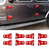 LODYPERO Kit De Decoración para Cubiertas De Bisagras De Puerta para Jeep Wrangler JL JLU 2018-2020, para Jeep Gladiator JT 2020, Accesorios Exteriores Rojos, Paquete De 8,Rojo