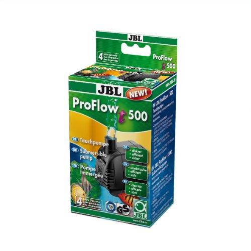 JBL ProFlow t500 60581 Tauchpumpe mit 200-500 l/h zur Umwälzung von Wasser in Aquarien und Aquaterrarien