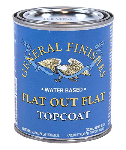 General Finishes Flat Out Flat Topcoat, Pint