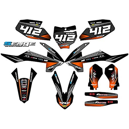 2011-2012 SXF Surge Black Base Senge Graphics kit Compatible with KTM