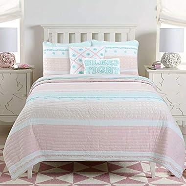 Cozy Line Home Fashions Pink Greta Pastel Polka...