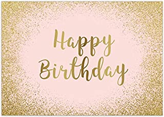 Allenjoy 7x5ft Rose Gold Happy 15th 18th 21st Birthday Backdrop Glittering Pink Bday Background for Women Photography Girls Sweet 16th Party Banner Dessert Table Decorations Photo Booth Studio Props