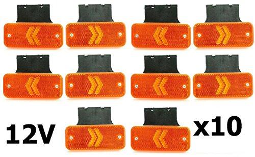10 x 12 V LED pijl kant omtrek achter markeerlichten met beugels voor camper vrachtwagen caravan bus tipper bus camper