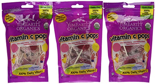 Yummy Earth Vitamin C Lollipops Gluten Free 3ounces Pack of 6