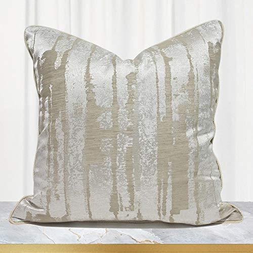 Decoración del hogar Funda de Almohada de sofá Beige Funda de cojín Decorativa Cojín de sofá Cojín de Cama de Dormitorio de Hotel Funda de cojín con Respaldo Grande Funda de Almohada sofá Cama