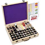 Soligt 72 Bottle Wooden Essential Oils Storage Box with Handle, 64 Slot for 5-15ml Essential Oils &...
