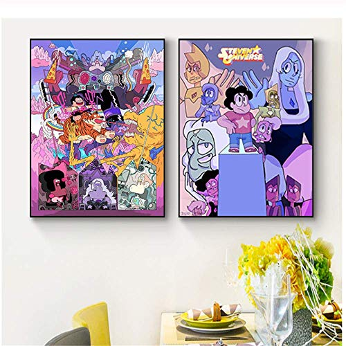 YaShengZhuangShi Lienzo de impresión Classic Anime Comic Series Steven Universe Cartoon Movie Poster Art Light Picture Home Room Decoración de la Pared 2x60x80cm sin Marco