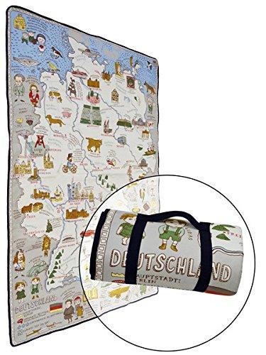 Alle Welt. Die Landkarten-Picknickdecke