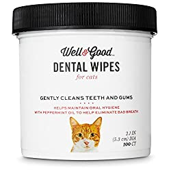 Well & Good Dental Wipes for Cats