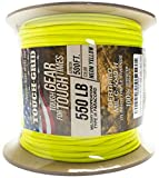 TOUGH-GRID 550lb Neon Yellow Paracord/Parachute Cord - 100% Nylon Genuine...