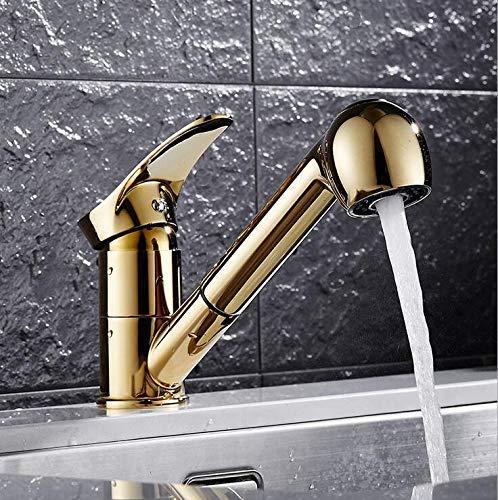 FXDCQC Waschtischarmatur Küchenarmatur Küchenarmatur Küchenarmatur Einhebelmischer Mischbatterie Waschbecken mit ausziehbarer Handbrause Schwenkbar A 360 ° Anschluss 3/8 Standard