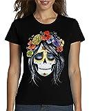 latostadora - Camiseta Catrina para Mujer Negro S