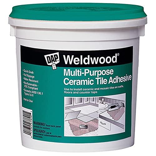 1 qt Dap 25190 Weldwood Multi-Purpose Ceramic Tile Adhesive Pack of 1