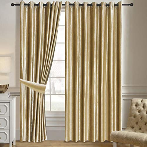cortinas terciopelo crema