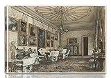 Rudolf Von Alt Estirado Giclee Imprimir en lienzo-Pinturas famosas Arte fino Póster-Reproducción Decoración de pared Listo para colgar(Salón En El Apartamento Del Conde Lanckoronski En Viena)#NK
