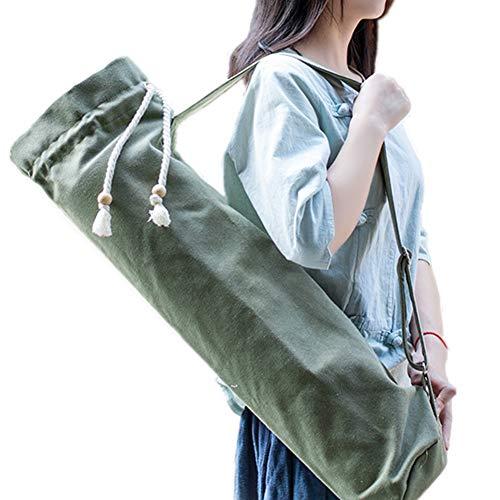 DC CLOUD Bolsa De Yoga Funda Esterilla Yoga Estera de Yoga con Bolsa de Transporte Bolsa de Cubierta de Estera de Yoga Darkgreen,-