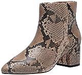 The Drop Women's Jessi Side Zip Block Heel Boot, Sand, 10 B US