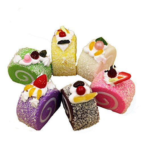Sinto 4pz Decorazioni Simulazione Cupcake Swiss roll Torta Fridge Magnet