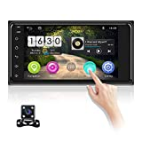 OiLiehu 2 DIN Bluetooth Car Radio 2 + 16G Autoradio 7 Pulgadas 2.5D Pantalla táctil Curvada Car MP5 Player Android Car Stereo Video GPS Mirror Link FM Radio AUX USB Cámara de visión Trasera