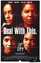 SET IT OFF (1996) Original Authentic Movie Poster 27x40 - ROLLED - Single-Sided - Jada Pinkett Smith - Queen Latifah - Vivica A. Fox - Kimberly Elise