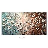 GUOYHDM 100% Handgemalte 3D Baum Ölgemälde Ahornbaum Bilder Home Decor Kunstwerk Leinwand Wandkunst Fertig Zum Aufhängen Abstrakte Gemälde 100X200Cm