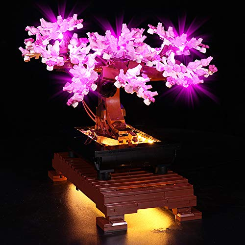 T-Club LED Light Kit for Lego 10281 Bonsai Tree, Lighting Kit Compatible with Lego 10281 ( Not Include Lego Set ) (B Version)