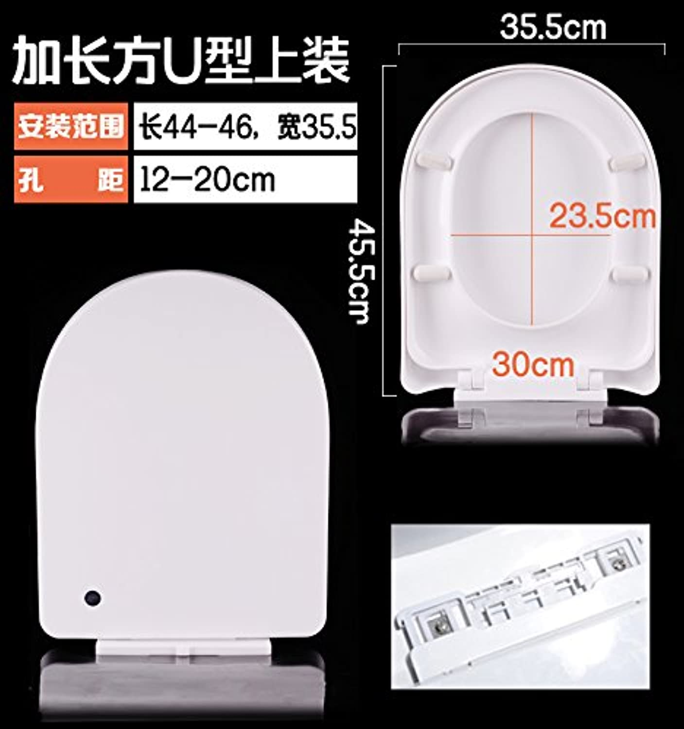 Topseh Toilet Cover General Slow Drop And Thickening Seat Cover Plate To Slow Down U Type V Type O Type Old Suit,Lengthening Usimple Modern Comfortable Bacteria Removal Home Toilet Common