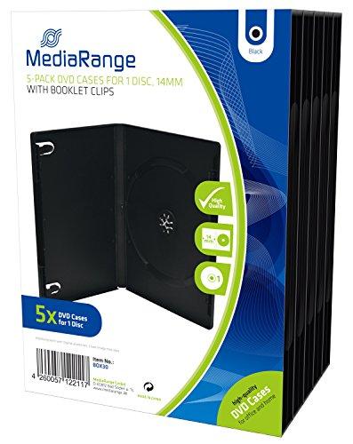 MediaRange BOX30 DVD-Leerhülle (für 1 DVD, 5 Stück) schwarz