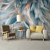 カスタム壁画壁紙3D抽象フェザーアートフレスコリビングルーム寝室の壁紙家の装飾壁画-200x140cm